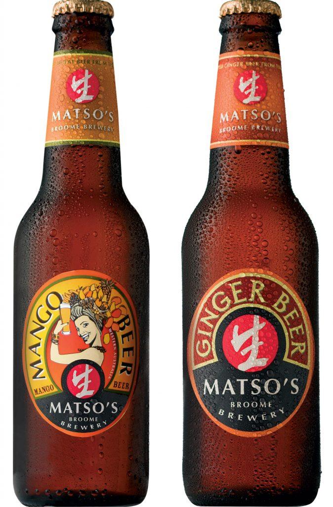 comidas e bebidas típicas da Austrália - Ginger Beer e Mango Beer