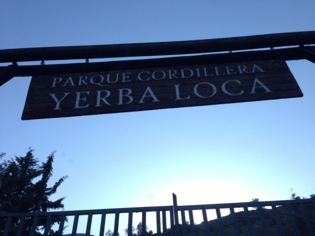 Entrada do Parque Cordillera Yerba Loca