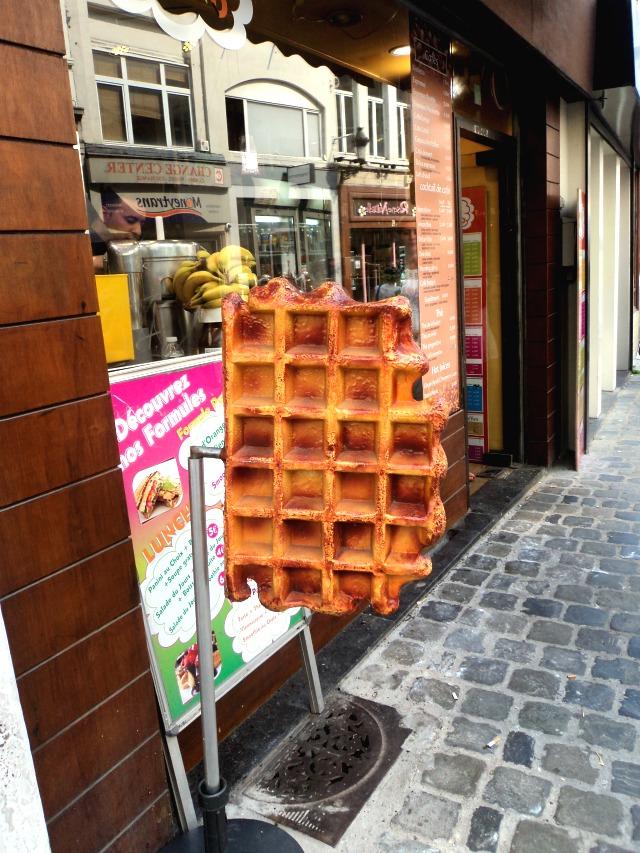 Típica loja de waffle