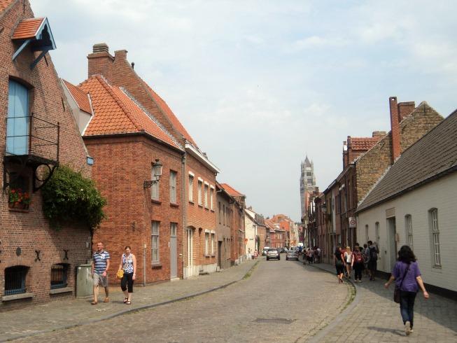 Lindas ruas em Bruges