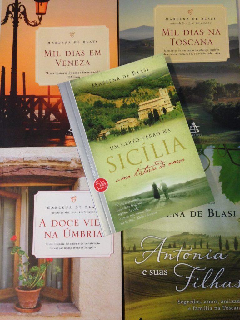 Livros da Marlena De Blasi - um deleite para quem gosta da Itália