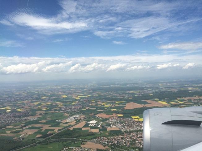 Visão de Frankfurt do avião