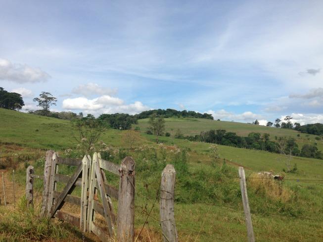 Estrada de terra: linda paisagem