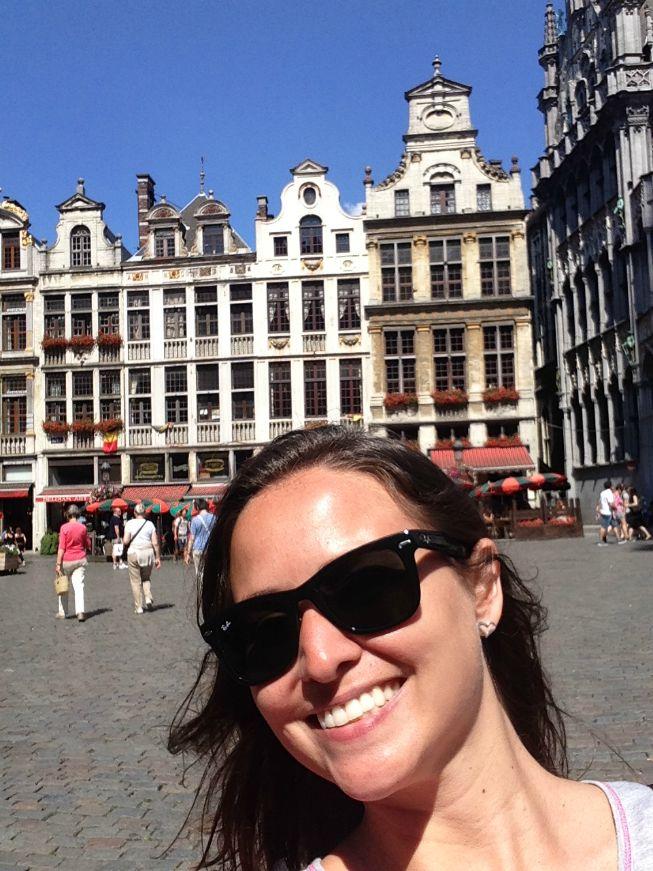 Lindo dia de sol em Bruxelas