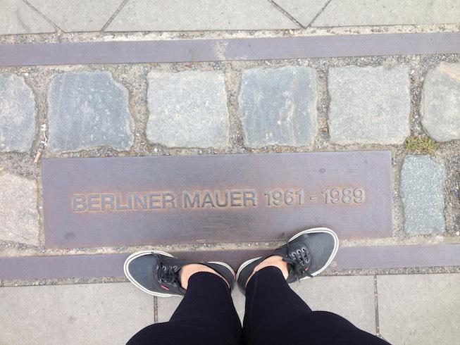 Marcação do muro de Berlim