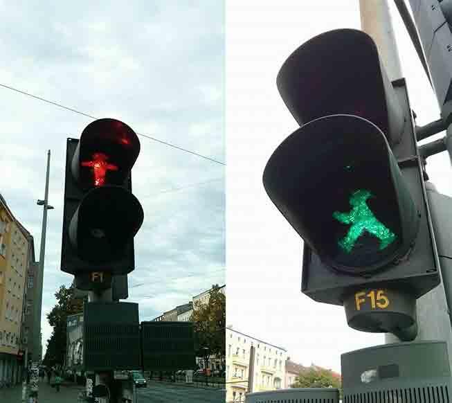 Ampelmann nos sinais de Berlim