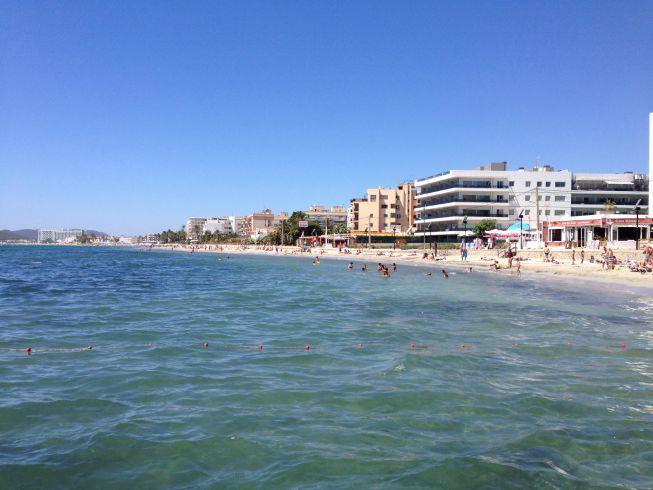 Playa d'en Bossa - ponto onde embarcamos