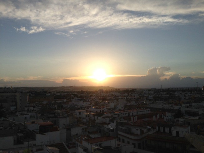 Pôr do sol em Sevilha