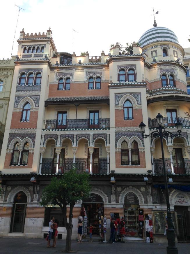 Detalhes da arquitetura em Sevilha