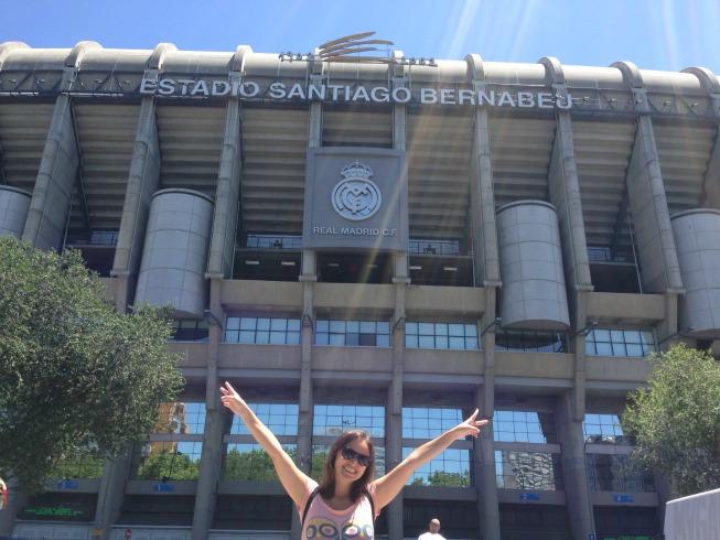 Entrada do Estádio Santiago Bernabéu