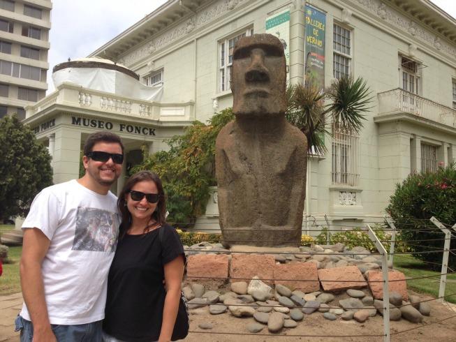 Museo Fonck e o moai legítimo