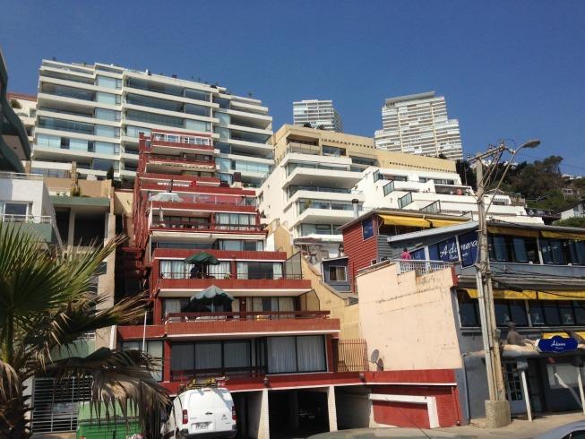 A arquitetura dos prédios na Avenida