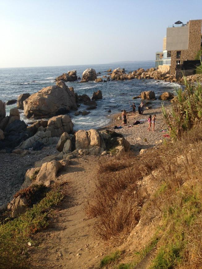 Prainha ao lado da Playa Amarilla