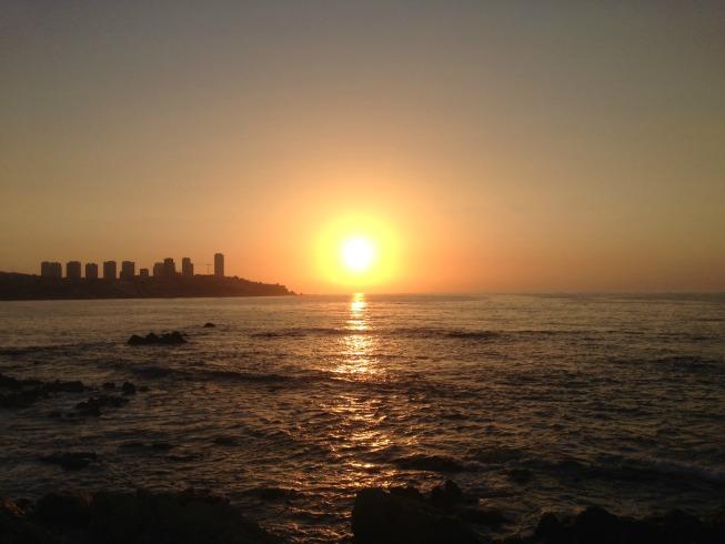 Pôr do sol em Viña del Mar