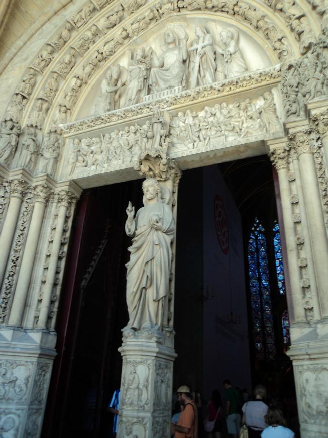 O segundo andar da Sainte Chapelle