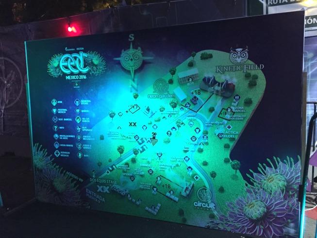 Mapa do evento: mega produção!