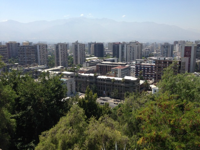 Cordilheira dos Andes ao fundo
