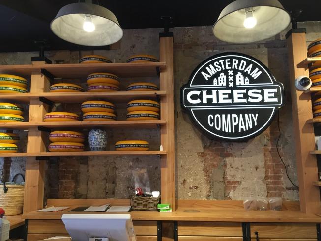 Linda loja de queijo em Amsterdam