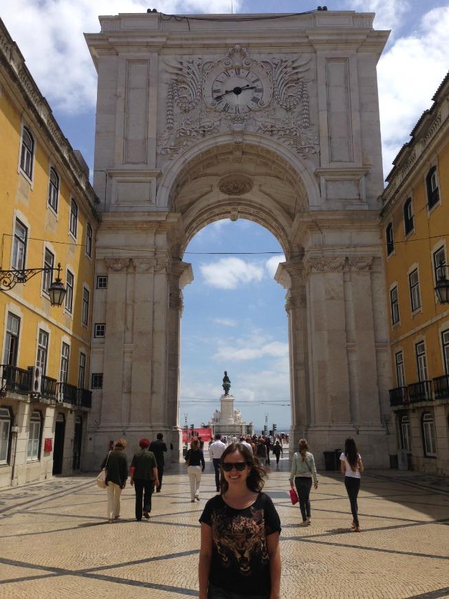 O Arco da Rua Augusta e ao fundo a Praça do Comércio
