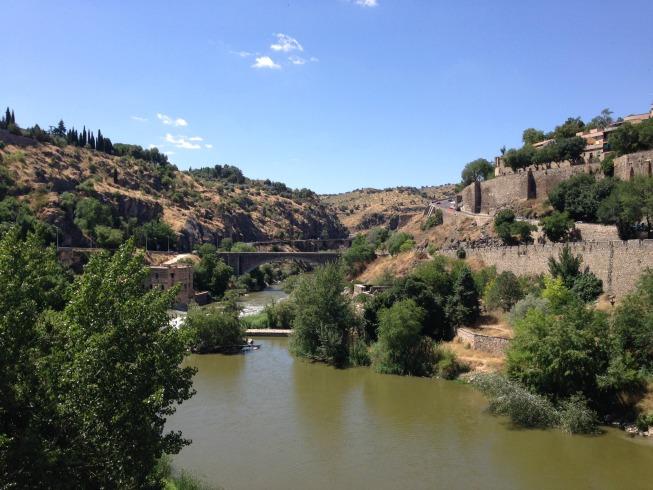 Vista da ponte: Rio Tejo